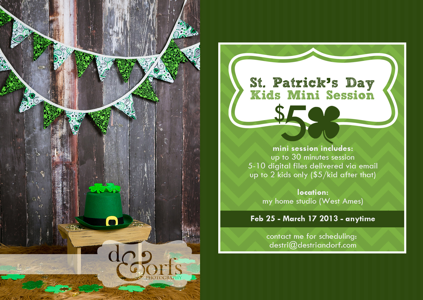 St. Patrick's Day Kids Mini Session